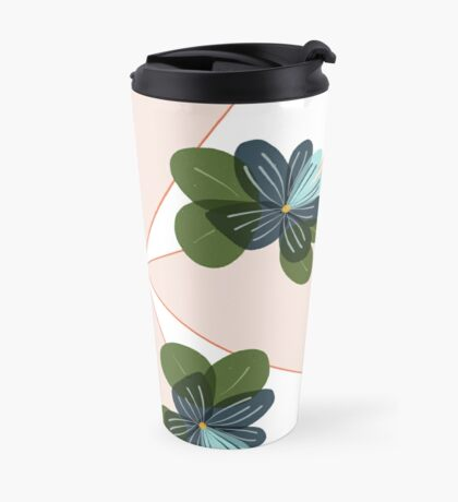 Triangle Pansy Pattern Travel Mug