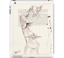 ink on paper, very old paper iPad Case/Skin