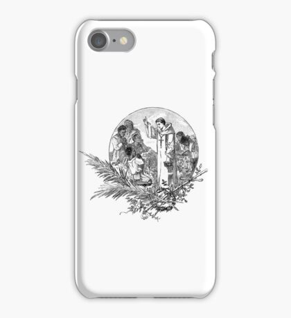 iPhone Case very old print ornament 1877 saint iPhone Case/Skin