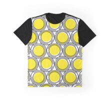 Yellow circles and black circles contour Graphic T-Shirt