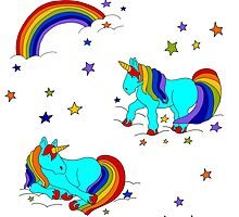 Rainbow magic unicorns stardust clouds and dreams yay! by Laura  Lee