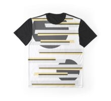 Modern abstract boxes and circles pattern Graphic T-Shirt