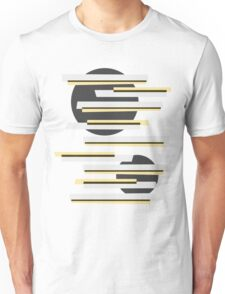 Modern abstract boxes and circles pattern Unisex T-Shirt