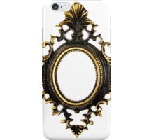 Old oval bronze frame iPhone Case/Skin
