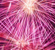 Pink fireworks Sticker