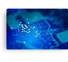 Circuit board background. Canvas Print