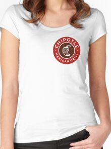 Chipotle Logo Women's Fitted Scoop T-Shirt
