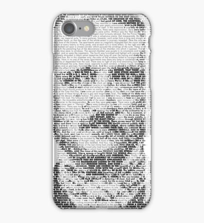 Edgar Allen Poe Text Portrait iPhone Case/Skin