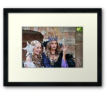Sonia and Zoe Birkett in Sleeping Beauty Framed Print