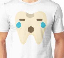 Teeth Emoji Teary Eyes and Sad Look Unisex T-Shirt