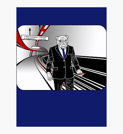 Underdog Underground, Red, White and Blue Photographic Print