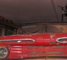 Red Chevrolet - Cuba Vintage Car T-Shirt Sticker