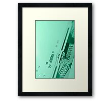 Circuit board background. Framed Print