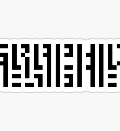 GRAPHIC DESIGNERS' VISION TEST CRYPTIC Sticker