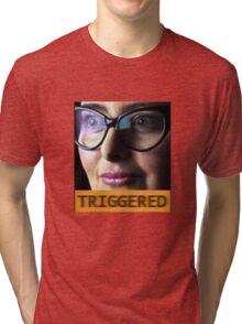 TRIGGERED FEMINIST MEME Tri-blend T-Shirt