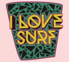 i love surf One Piece - Short Sleeve