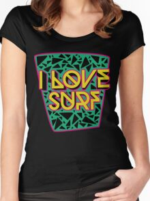 i love surf Women's Fitted Scoop T-Shirt
