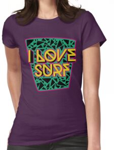 i love surf Womens Fitted T-Shirt