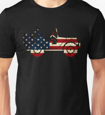 Jeep Classic (Flag Design) Unisex T-Shirt