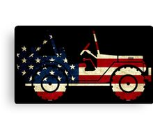 Jeep Classic (Flag Design) Canvas Print