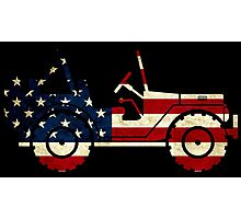 Jeep Classic (Flag Design) Photographic Print