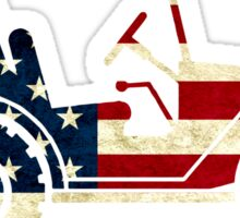 Jeep Classic (Flag Design) Sticker