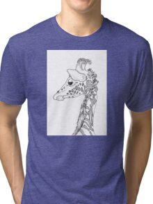 Giraffe Portrait Tri-blend T-Shirt