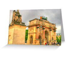 Arc de Triomphe du Carrousel with Statue .. HDR Greeting Card