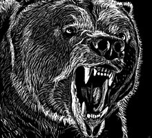 Grizzly Bear by itchingink