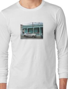 Old Jalopy - Cuban Street Car Long Sleeve T-Shirt