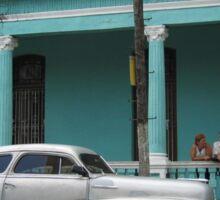 Old Jalopy - Cuban Street Car Sticker