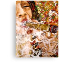 Puffing with Passion. Canvas Print