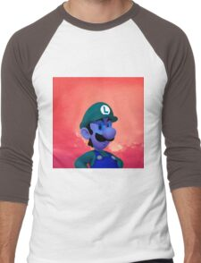 Luigi - Coloring Book Men's Baseball ¾ T-Shirt