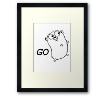 Go Language Running Framed Print
