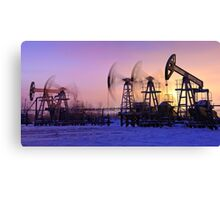 oil pumps  Canvas Print