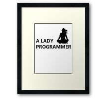 A Lady Programmer Framed Print