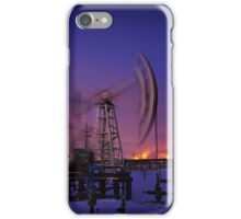 Oil rig at night. iPhone Case/Skin