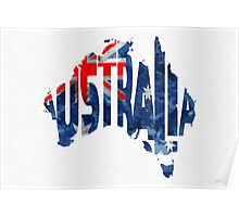 Australia Typographic World Map Poster