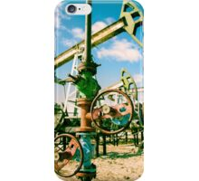 Oilwell and pump jack. iPhone Case/Skin
