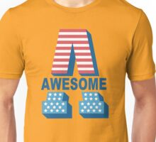 Awesome - U S A - United States of America Unisex T-Shirt