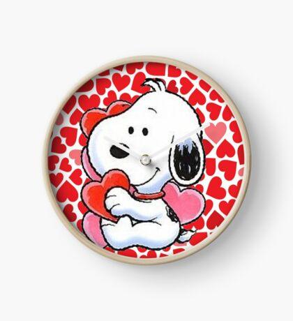 snoopy valentine  Clock