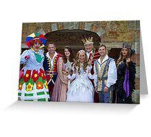 The cast of Sleeping Beauty Greeting Card