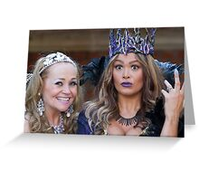 Pop Idol Sonia and Zoe Birkett in Sleeping Beauty Greeting Card