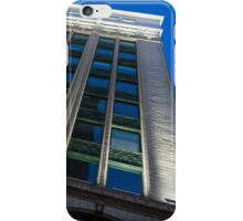 City Night Walks – White, Green and Blue Facade iPhone Case/Skin