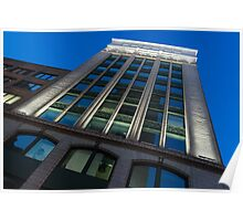 City Night Walks – White, Green and Blue Facade Poster