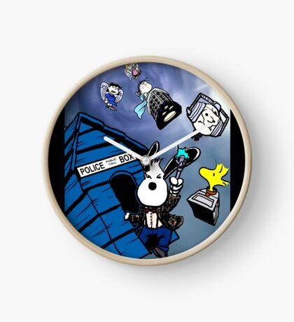 snoopy police box Clock