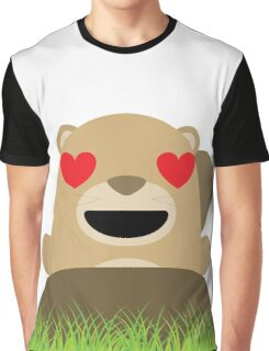 Mole Emoji Heart and Love Eyes Graphic T-Shirt