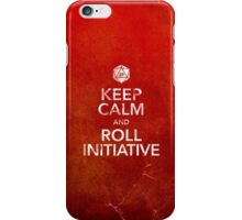 Keep Calm and Roll Initiative (Print) iPhone Case/Skin