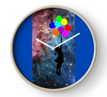 banksy ballon galaxy  Clock