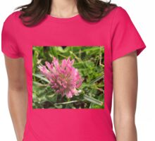 Pink Wildflower Womens Fitted T-Shirt